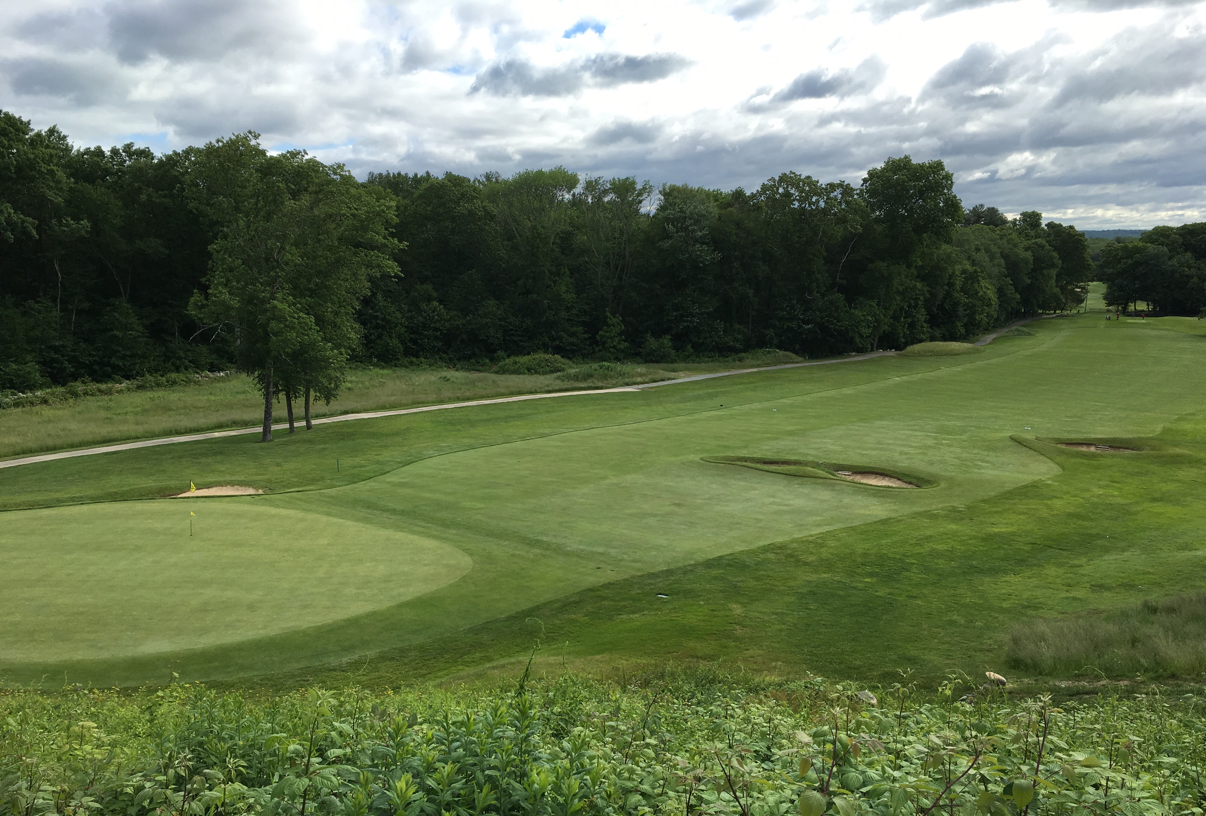 #3 - Par 4 - Above the green from the 4th tee