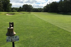 #5 - Par 4 - Ring the bell letting the next group know it's safe to hit their tee shots