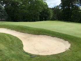 #9 - Par 4 - Left of the sloping green