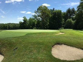 #14 - Par 4 - View of behind the green from 15 tee