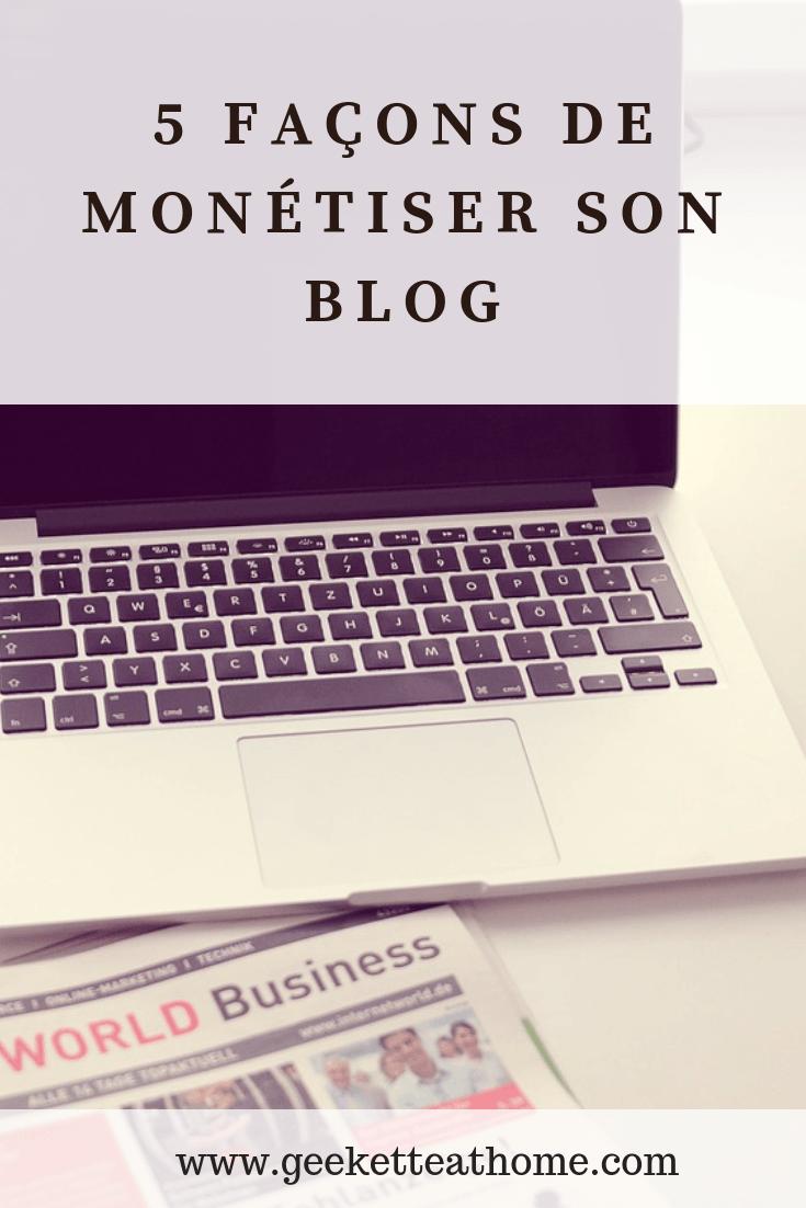 5 façons de monétiser son blog