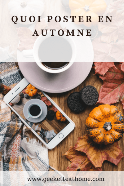 quoi poster en automne