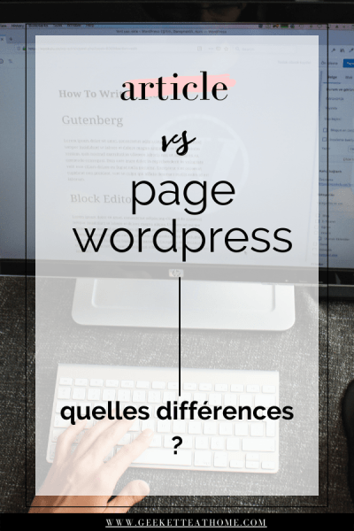 article vs page