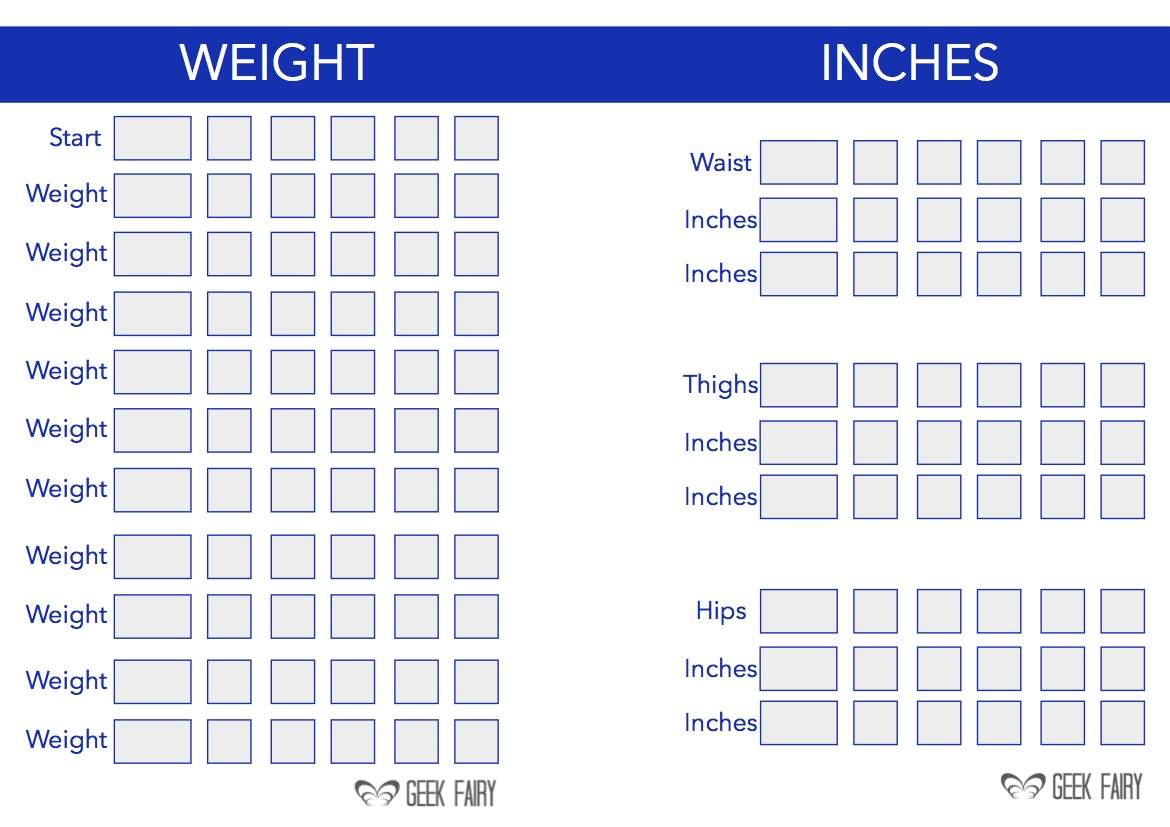 Weight Loss Journal Printable Pages
