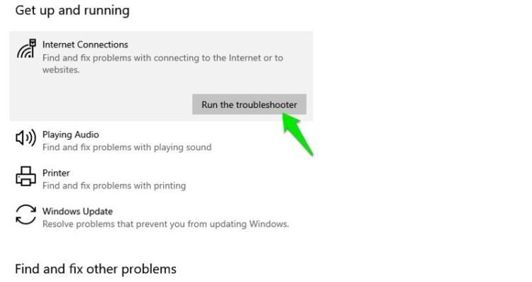 Run Windows 10 troubleshooter