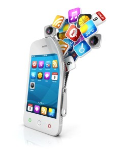 social media business on smartphone