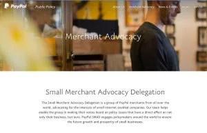 paypal smaller merchant advisory delegation