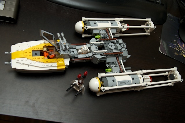 Y-Wing fully assembled.