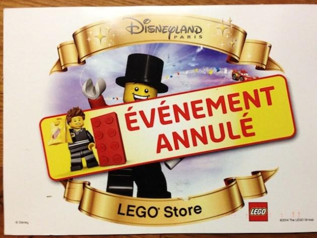 LEGO Store opening cancelation