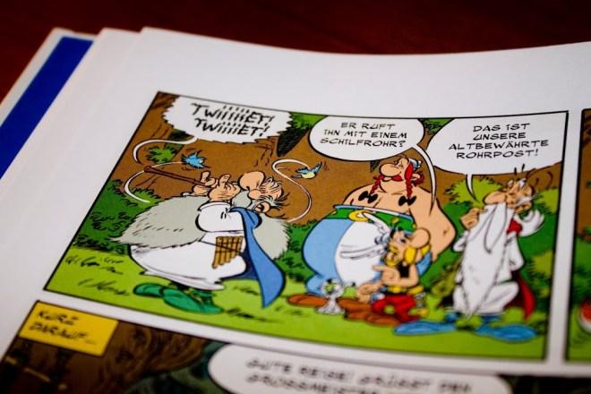 Asterix 36 Papyrus des Cäsar tweet