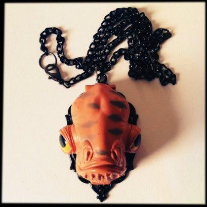 star wars Admiral Ackbar custom Star Wars necklace