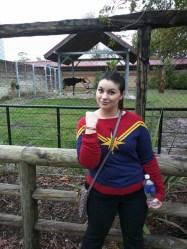 Captain Marvel saved this okapi.