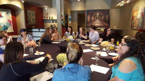 Brunchettes dining in their own private dining room at Crisp!