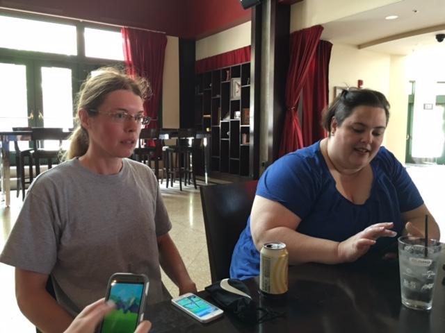Kansas City geek girls play PokemonGo before seeing Ghostbusters