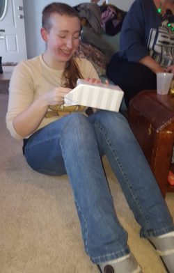 GGB COS Officer, Erin, opening her gift!