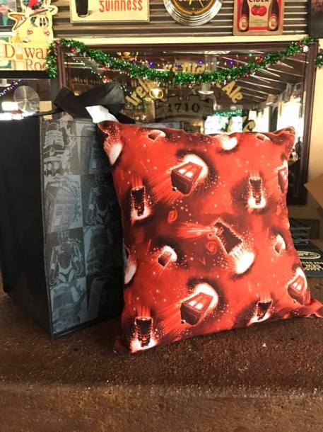 TARDIS and Dalek Pillow Prize