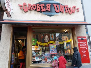 One of many comic book shops in Berlin