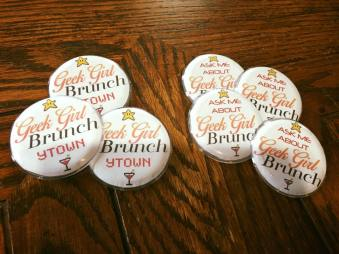 Buttons for Brunchettes to Wear