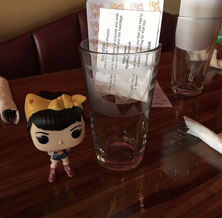 Glasses with Wonder Woman Logo and Geek Girl Brunch Planner Stickers