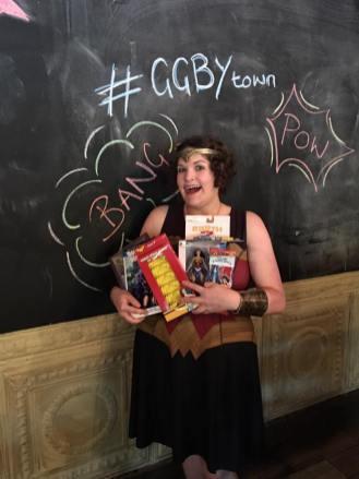 Mandy won the grand prize, a Wonder Woman extravaganza