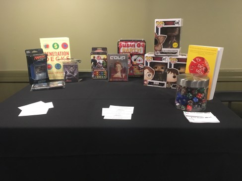 Our Prizes for game winners!