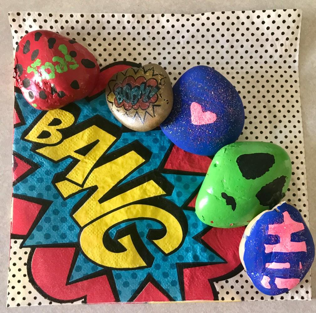 Kindness Superheroes Rocks