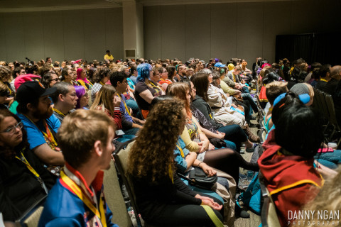 Part of the full house at the panel. Image source: Danny Ngan Photography