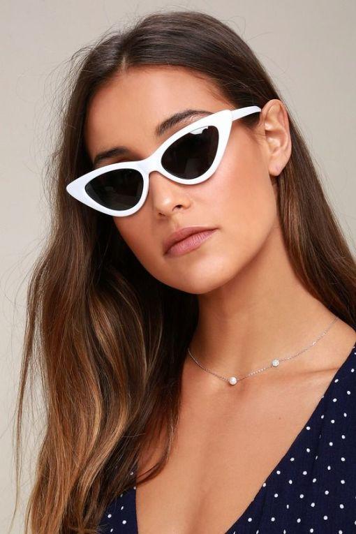 Lynx White Cat Eye Sunglasses