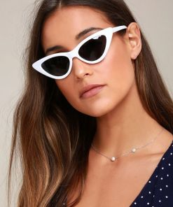 Lynx White Cat Eye Sunglasses