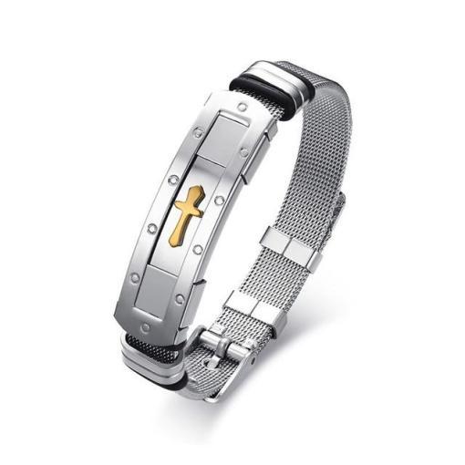 Mens stainless steel bracelet boyfriend gift geek gifts