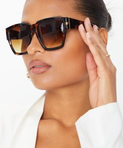 tortoise shell oversized square sunglasses women