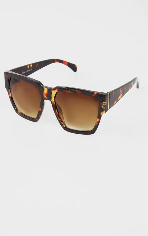 tortoise shell oversized square sunglasses women