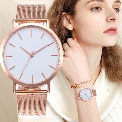 Gold Luxury WatchWomen | Ladies Casual Watch