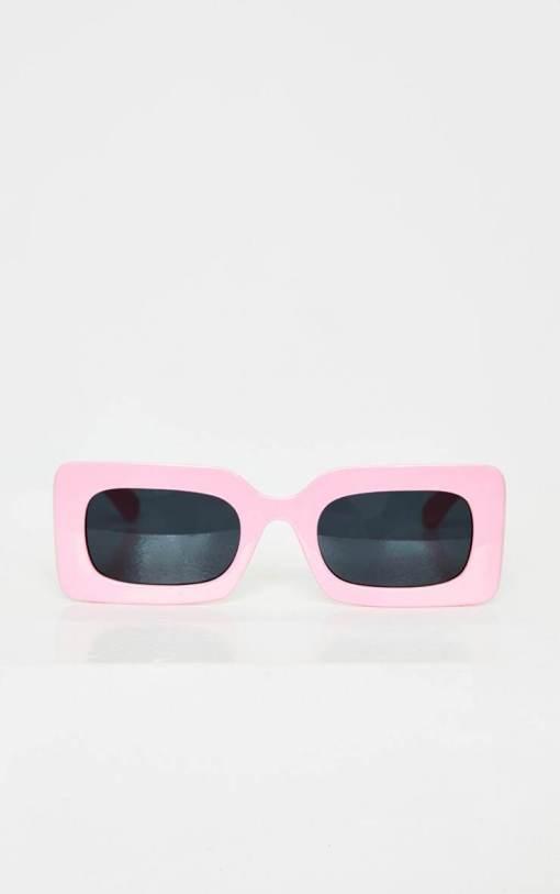 pink square cat eye womens sunglasses