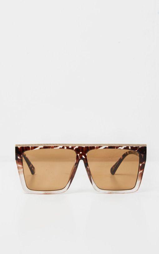 Oversized Square Sunglasses   Large Tortoise