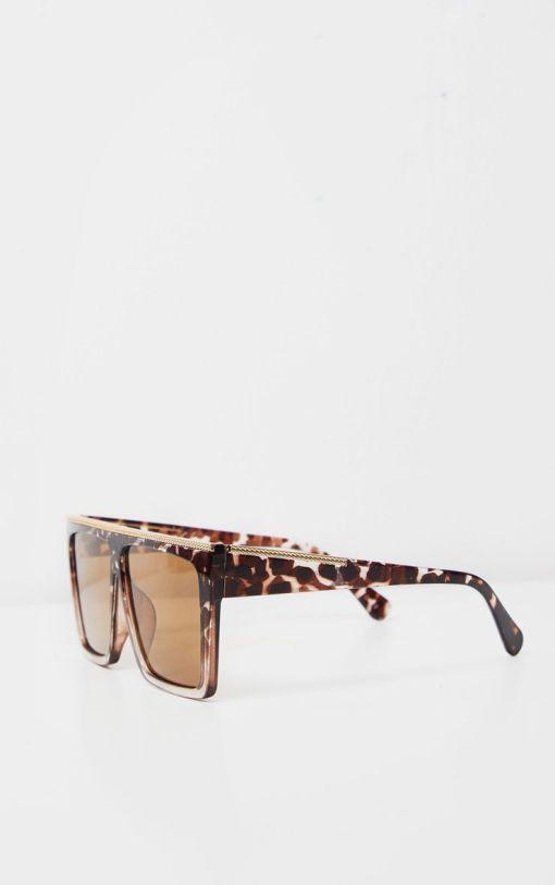Oversized Square Tortoise Sunglasses Womens