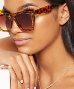 Oversized Square Tortoise Sunglasses Womens