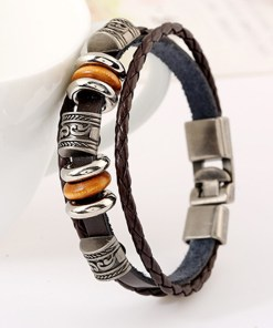 Mens Leather Cuff Bracelets