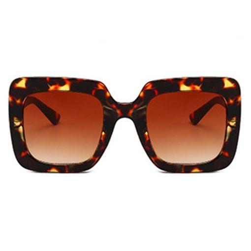 Mens Womens Non-polarized Colorful Striped Square Sunglasse