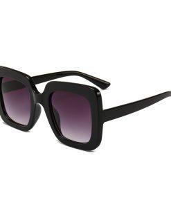 Oversized Black Square Aviators Sunglasses Womens