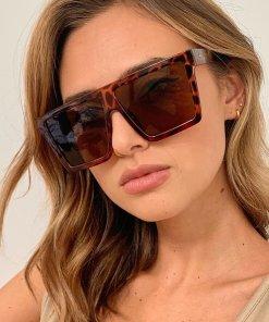 Tortoise Oversized Square Sunglasses women