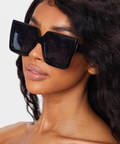 black clubmaster aviator square sunglasses women