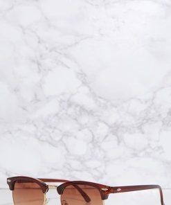 brown gradient aviator style womens sunglasses
