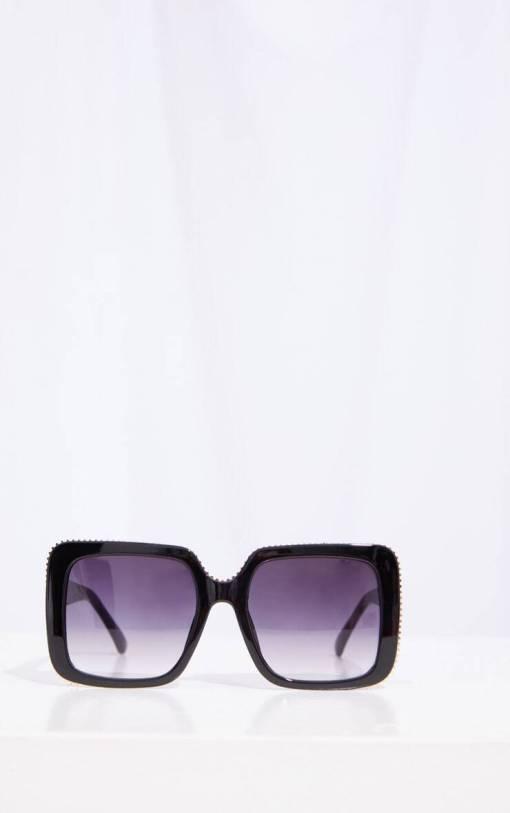 Big black square designer sunglasses womens