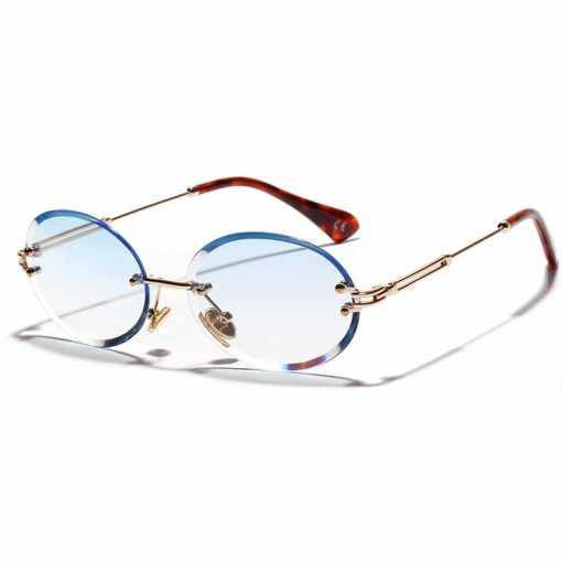 Rose Gold Retro Round Polarized Sunglasses Women's