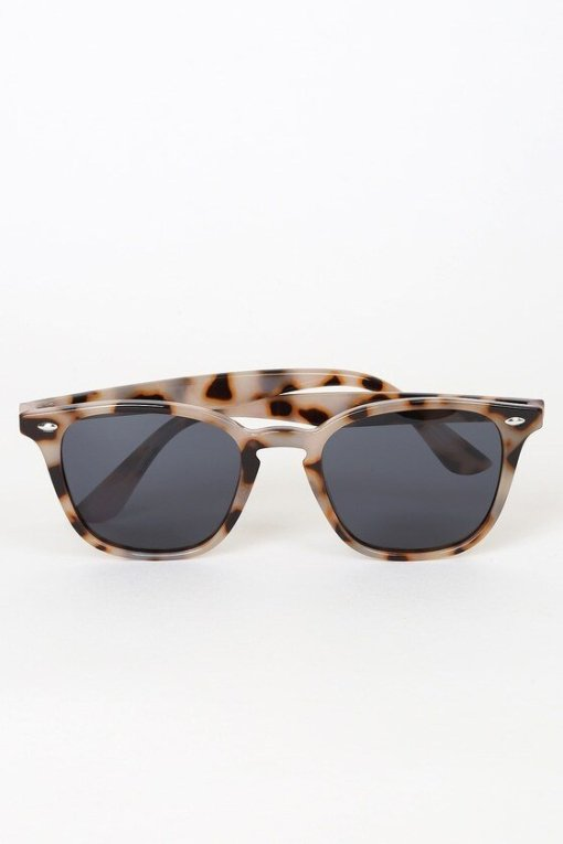 Round Tortoise Shell Polarized Sunglasses For Womens