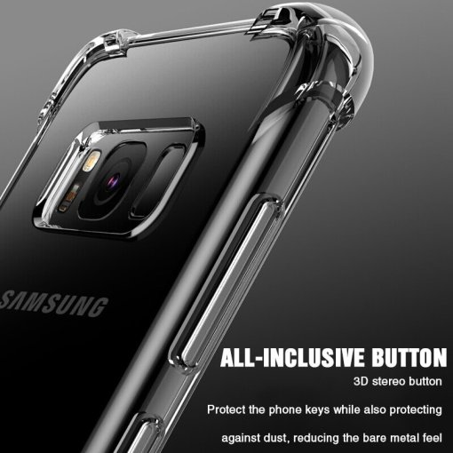 LOVECOM Shockproof Clear Phone Case For Samsung Galaxy S21 S20 A50 A51 A71 S10 S10e S9 S8 Plus Note 10 Soft TPU Phone Back Cover
