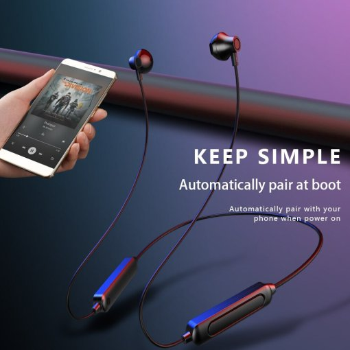 Wireless Bluetooth Earphones Magnetic Sports Running Headset IPX5 Waterproof Music Earbuds Noise Reduction Headphones With Mic