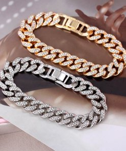 Cuban Link Chain Bracelet Mens