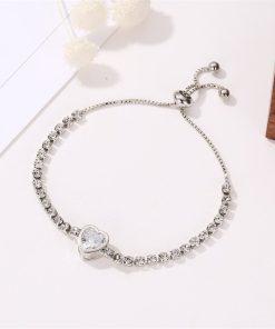 Silver Cuban Link Bracelet Womens